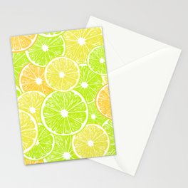 Lemon, orange and lime slices pattern design Stationery Cards