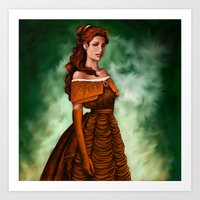 belle Art Prints featuring Belle by Anja-Catharina