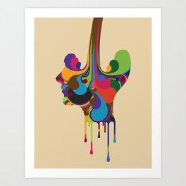 Poured Art Print