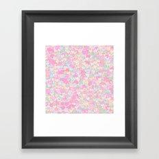 Cute Pastel Hearts 12 Framed Art Print