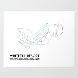 Whitetail Resort, PA - Minimalist Winter Trail Art Art Print