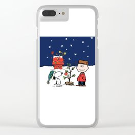 Snoopy Christmas Clear iPhone Case
