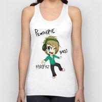 pewdiepie Tank Tops featuring PEWDIEPIE! by Mindlesspeanutbutter