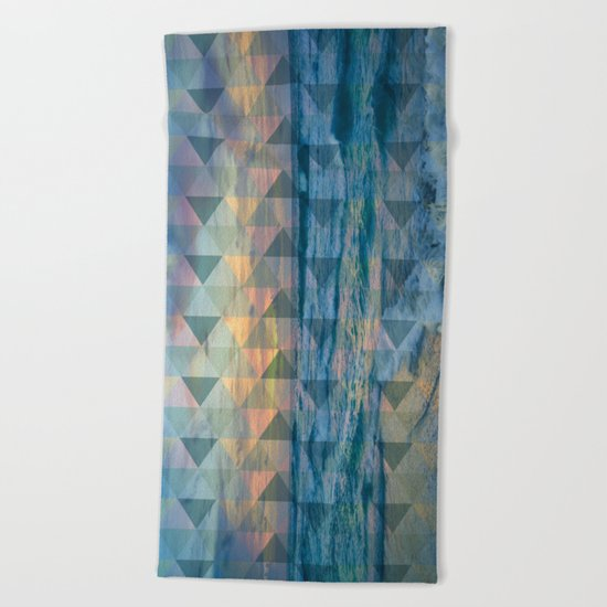 Beach mosaic Beach Towel