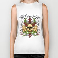 religion Biker Tanks featuring Faith is my religion by Tshirt-Factory