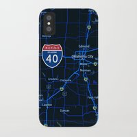 oklahoma iPhone & iPod Cases featuring oklahoma map by Larsson Stevensem