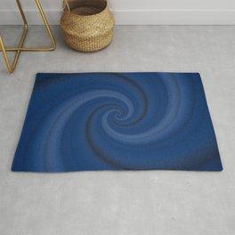 Endless blue swirl Rug