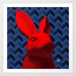 red bunny Art Print
