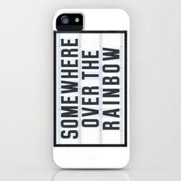 Somewhere - Typo iPhone Case