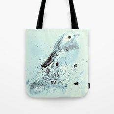 Robin in blue Tote Bag