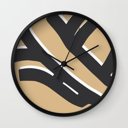 Bold sitting nude abstract pose Wall Clock