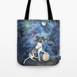 Our hero, Laika Tote Bag