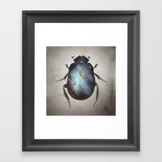 Galaxy Scarab Framed Art Print