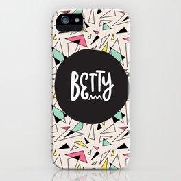 B E T T Y iPhone Case