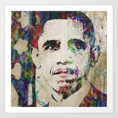 Obama The Last Great President Watercolor Pop Art Painting Modern Abstract Art Print