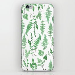 Ferns on White I - Botanical Print iPhone Skin