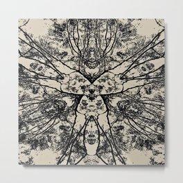 Black Flora No 1 Metal Print
