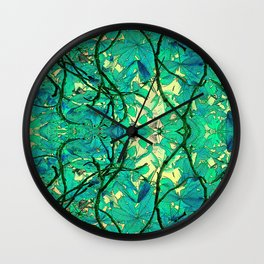 CHESTNUT FOLIAGE FANTASY ABSTRACT Wall Clock