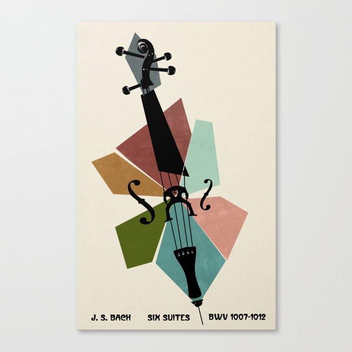 Bach - Cello Suites Canvas Print