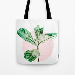 Fiddle leaf - pink pot II Tote Bag