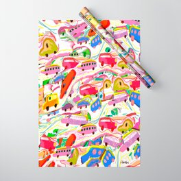 Kiddie Cars Pattern Wrapping Paper