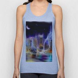 Starry Night New York City Unisex Tank Top