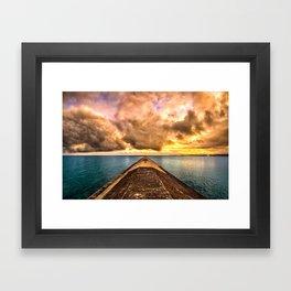 Sunset Clouds Over Lake Superior Framed Art Print