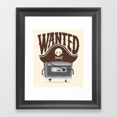 Pirate music Framed Art Print