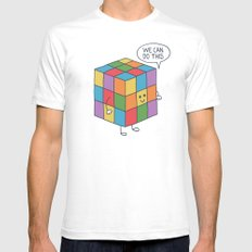 Puzzle White SMALL Mens Fitted Tee