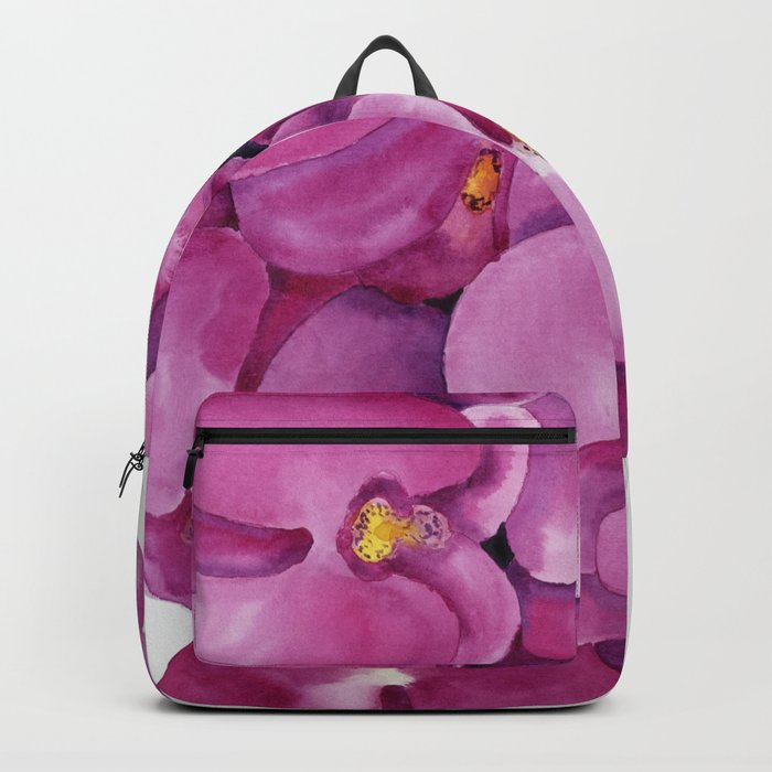 Watercolour Orchid Bloom Rucksack