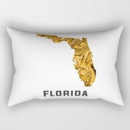 Florida - State Map Art - Abstract Map - Brown Rectangular Pillow