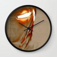 iron man Wall Clocks featuring Iron Man by Fernando Vieira