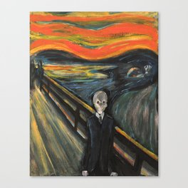 The Silence - When The Doctor Meets Munch Canvas Print