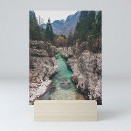 Soca Valley, Slovenia Mini Art Print
