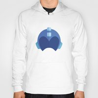 megaman Hoodies featuring Megaman Helmet by MarkandMarnie
