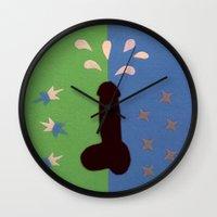 penis Wall Clocks featuring Felt Penis: Seeing Stars by BRENT PRUITT