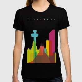 Shapes of Liverpool. Accurate to scale. T-shirt