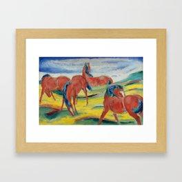 "Franz Marc ""Grazing Horses"" (III) Framed Art Print"