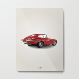 Jaguar E-Type Series 1 (1961-1968) Metal Print