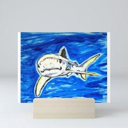 sharks are friends Mini Art Print