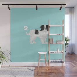 japanese chin farting dog cute funny dog gifts pure breed dogs Wall Mural