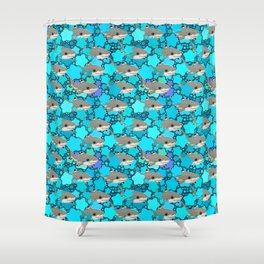 Blacktip Reef Shark (Uncommon animals series) Shower Curtain