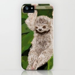 Brown-throated three-toed sloth iPhone Case