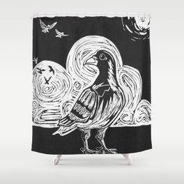 Proud Pigeon Shower Curtain