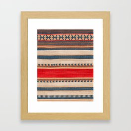 Bohemian Traditional Moroccan Style Artwork Framed Art Print