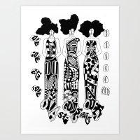 DIVA; GODDESS; QUEEN; LOVE, HOPE, PEACE, SOUL; SELF-RESPECT Art Print