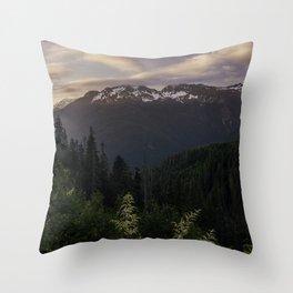 Never Stop Exploring - Cascade Sunset Throw Pillow