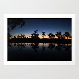 River Sunset. Art Print