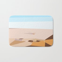 brown blue and dark brown abstract background Bath Mat
