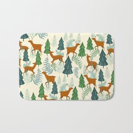 Deers in the forest Bath Mat
